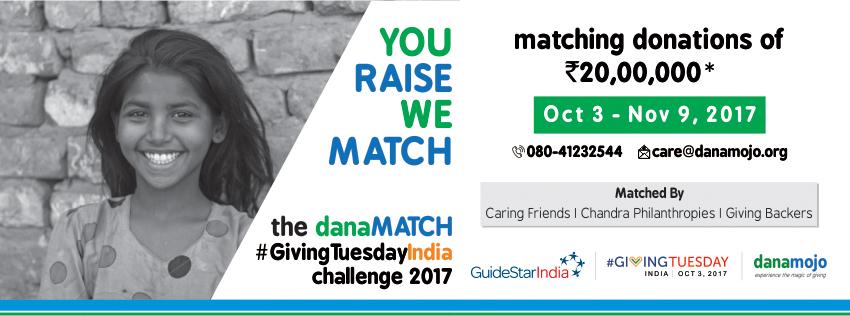 The danaMATCH #GivingTuesdayIndia Challenge 2017