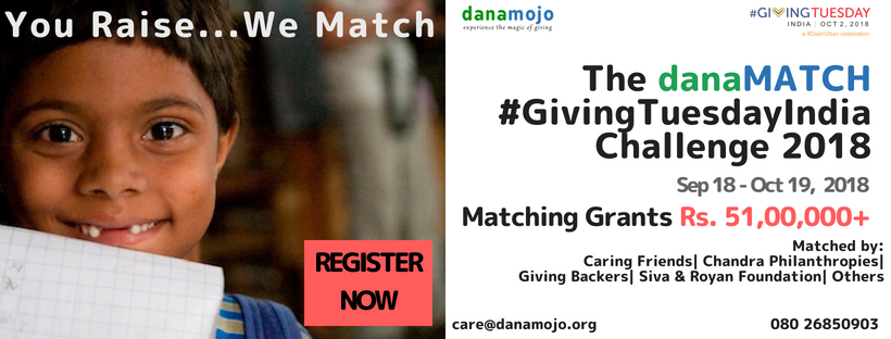 The danaMATCH #GivingTuesdayIndia Challenge 2018