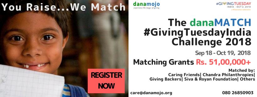 The danaMATCH #GivingTuesdayIndia Challenge 2018